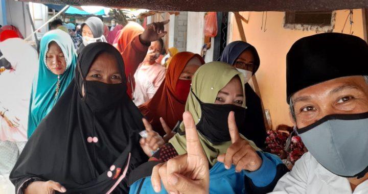 Aristan Calon Walikota Palu Bersama Pedagang Pasar Mamboro