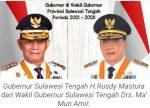 Gubernur Sulteng H.Rusdy Mastura Dan Wagub Ma'Mun Amir Akan Dilantik Presiden RI di Istana Negara